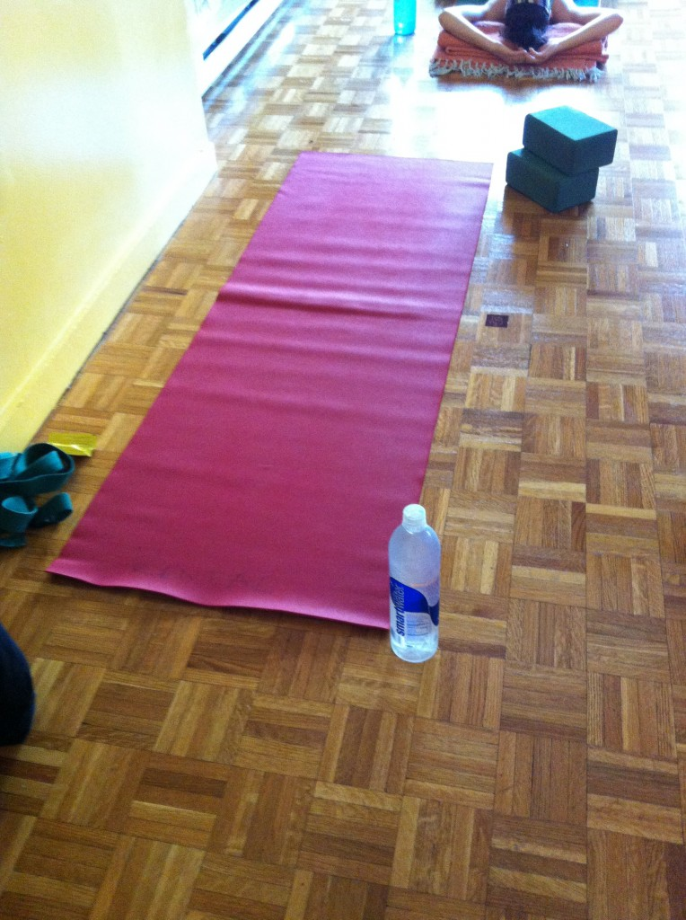 De-stressing with a yoga class!